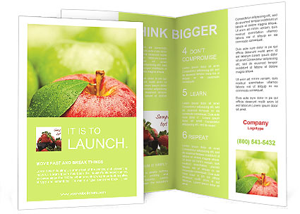 Ripe green apple brochure template design id 0000008183 for Apple brochure templates