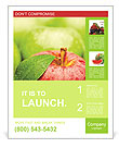 Ripe green apple Poster Template