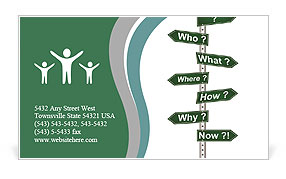 Plate with questions Business Card Template