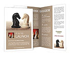 White horse against a black horse Brochure Templates