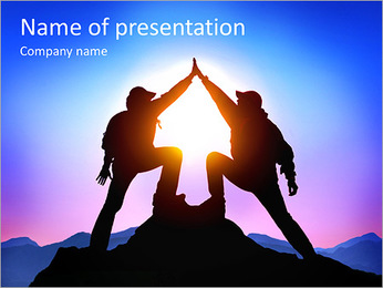 Limbers on the mountain PowerPoint Template