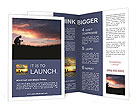 Silhouette of a man at sunset Brochure Templates