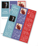 Human body with area of pain Newsletter Template