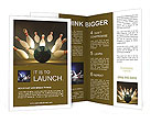 Image of scattered skittle and bowling ball Brochure Templates