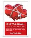 Red heart in chains Ad Template