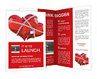 Red heart in chains Brochure Templates