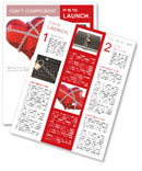 Red heart in chains Newsletter Template
