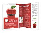 Black belt on an apple Brochure Templates