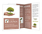 Tree in the palm of your hand Brochure Template