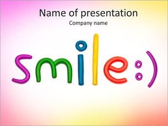 Smile plasticine figures PowerPoint Template