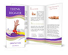 Male hand is showing five fingers Brochure Template