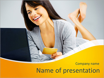 Beautiful business woman PowerPoint Template