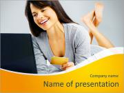 Beautiful business woman PowerPoint Templates