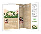 Family paper on grass Brochure Templates