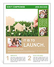 Family paper on grass Flyer Templates