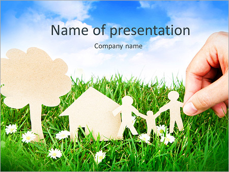 Family powerpoint templates backgrounds google slides themes family paper on grass powerpoint template toneelgroepblik Choice Image