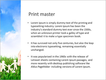 El papel de la familia en la hierba Plantillas de Presentaciones PowerPoint