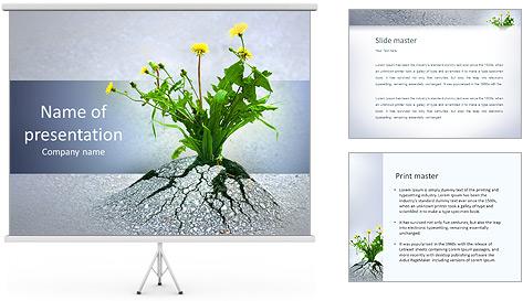 Скачать шаблонам для презентации powerpoint растения