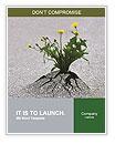 Plants emerging through hard asphalt Word Templates