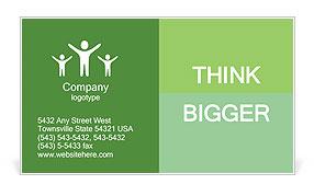 Green legs Business Card Template