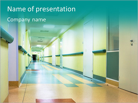 Healthcare powerpoint templates backgrounds google slides themes corridor in hospital powerpoint template toneelgroepblik Choice Image