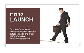 Walking on the edge Business Card Template
