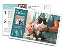 Cat and vet Postcard Templates