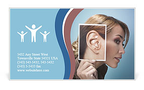 Ear women Business Card Templates