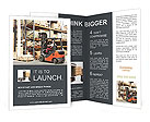 Forklifts in stock Brochure Templates