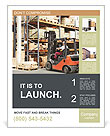 Forklifts in stock Poster Templates