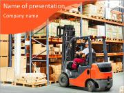 Forklifts in stock PowerPoint Templates