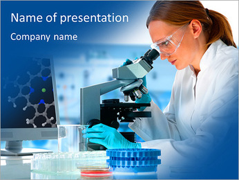 Studies in the laboratory PowerPoint Template