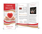 Keep the heart in his hands Brochure Templates