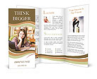 Red-haired girl Brochure Templates