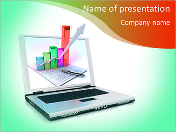 The diagrams in the laptop PowerPoint Template