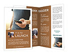 Phone in hand Brochure Templates