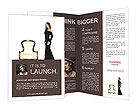 The girl in a black dress Brochure Template