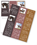 Horse and rider Newsletter Template