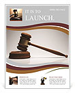 Gavel Flyer Template