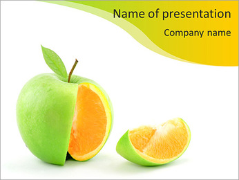 Crossing apples and oranges PowerPoint Template