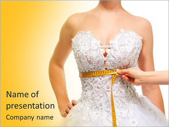 White Dress PowerPoint Template