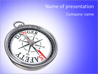Compass success PowerPoint Template