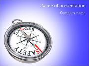 Compass success PowerPoint Templates