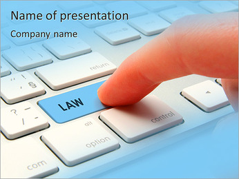 Button Law PowerPoint Template