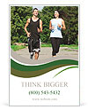 Jogging outdoors Ad Template
