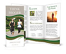 Jogging outdoors Brochure Templates