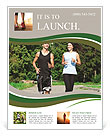 Jogging outdoors Flyer Templates