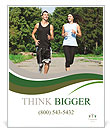 Jogging outdoors Poster Templates