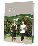 Jogging outdoors Presentation Folder
