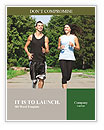 Jogging outdoors Word Templates